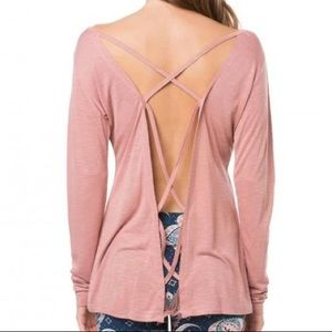 NWT O'Neill Blush Pink Astrid Long Sleeve Sz L